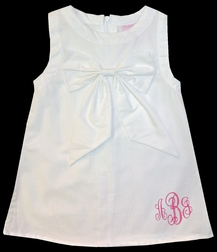 Frumpy Rumps Monogrammable White Bow Dress