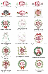 Girls Christmas Monograms