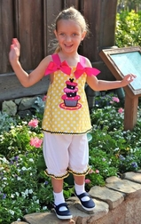 Minnie Mouse Birthday Cake and Big Dots Custom Dress, Outfit.