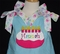 Girl's Birthday Cake Ribbon Dress or Outfit in Turquoise and Hot Pink