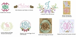 Girl's Easter Monograms