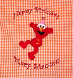 Girl's Elmo Birthday Custom Dress Or Outfit & Birthday Hat.