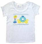 Girl's Faux Smocked Cinderella Princess Shirt