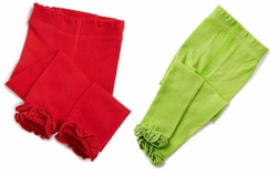 Girl's Footless Tights Leggings in White, Red, Black, Lime and Pink by Jeffries