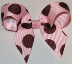 Girl's Hair Bow, 4 Inch Medium Grosgrain Ribbon