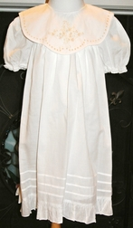 Girl's Heirloom Dress White With Ecru Embroidery by Rosalina