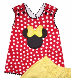 Girl's Minnie Mouse Criss Cross Back Swing Top and Shorts or Capris Outfit