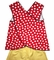 Girl's Minnie Mouse Criss Cross Back Swing Top and Shorts Outfit
