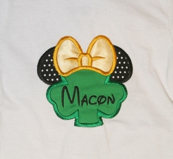 Disney Minnie Mouse St Patrick's Day Shamrock Shirt or Shorts or Capris Outfit for Girls