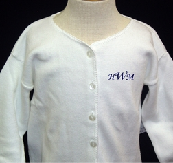Girl's White Sweater for Fall or Winter.