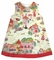 Girl's Custom Monogrammable Aline Dress in Various Fabrics Including Corduroy