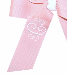 Girl's Monogrammed Big Loops Bow