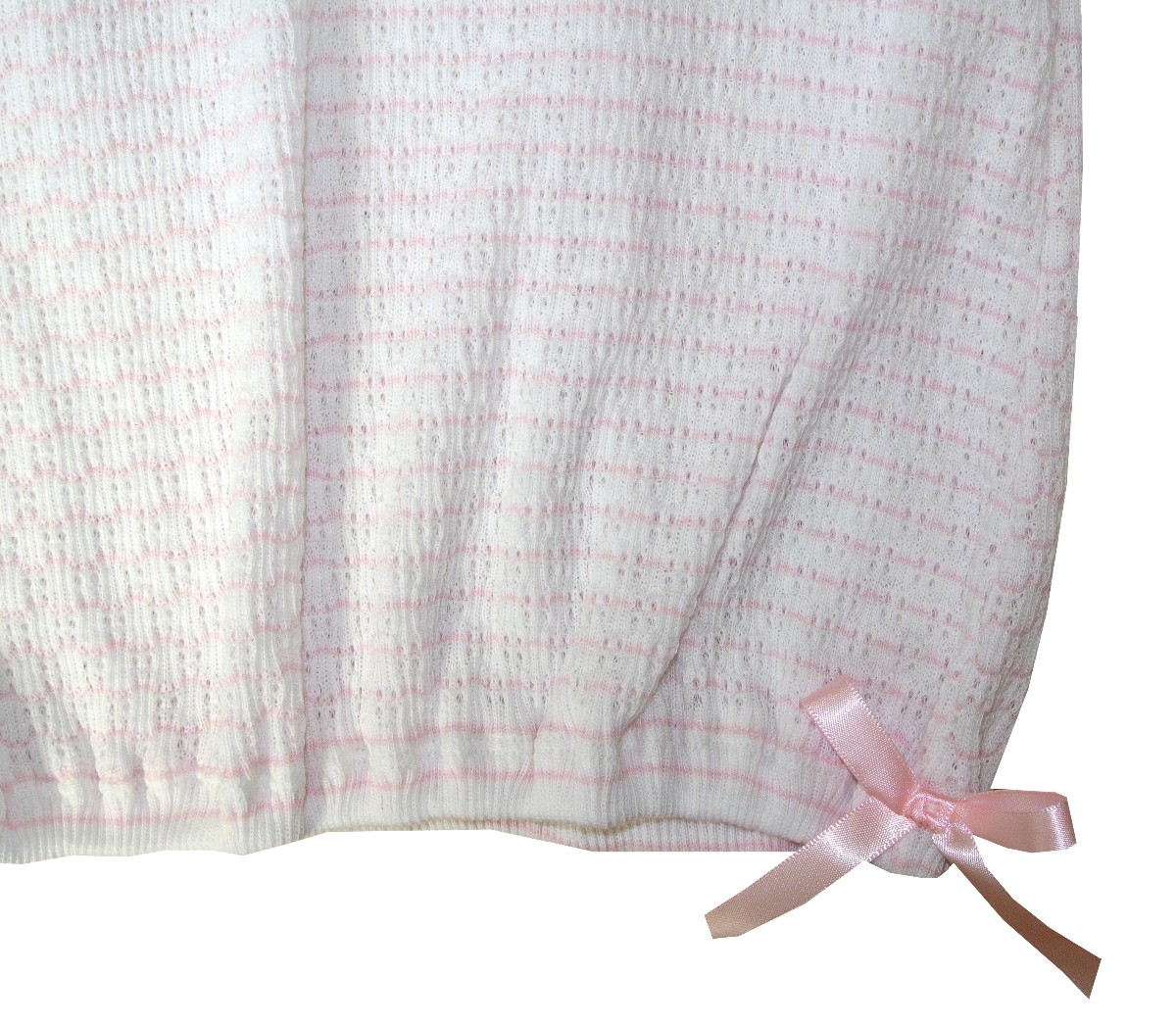 Girl\'s Pink And White Layette Baby Infant Gown By Paty, Inc.
