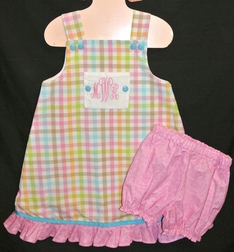 Girl's Reversible Panel Peter Rabbit Monogrammed Dress or Outfit