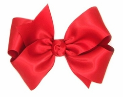 Girl's Satin Hair Bow Perfect for Special Occasion and Heirloom Dresses