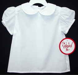 Girl's White Blouse with Peter Pan Collar By Funtasia.