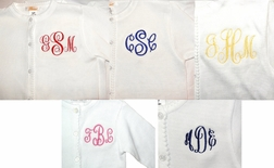 GIRLS PERSONALIZED SWEATER in White for Spring, Easter and Summer