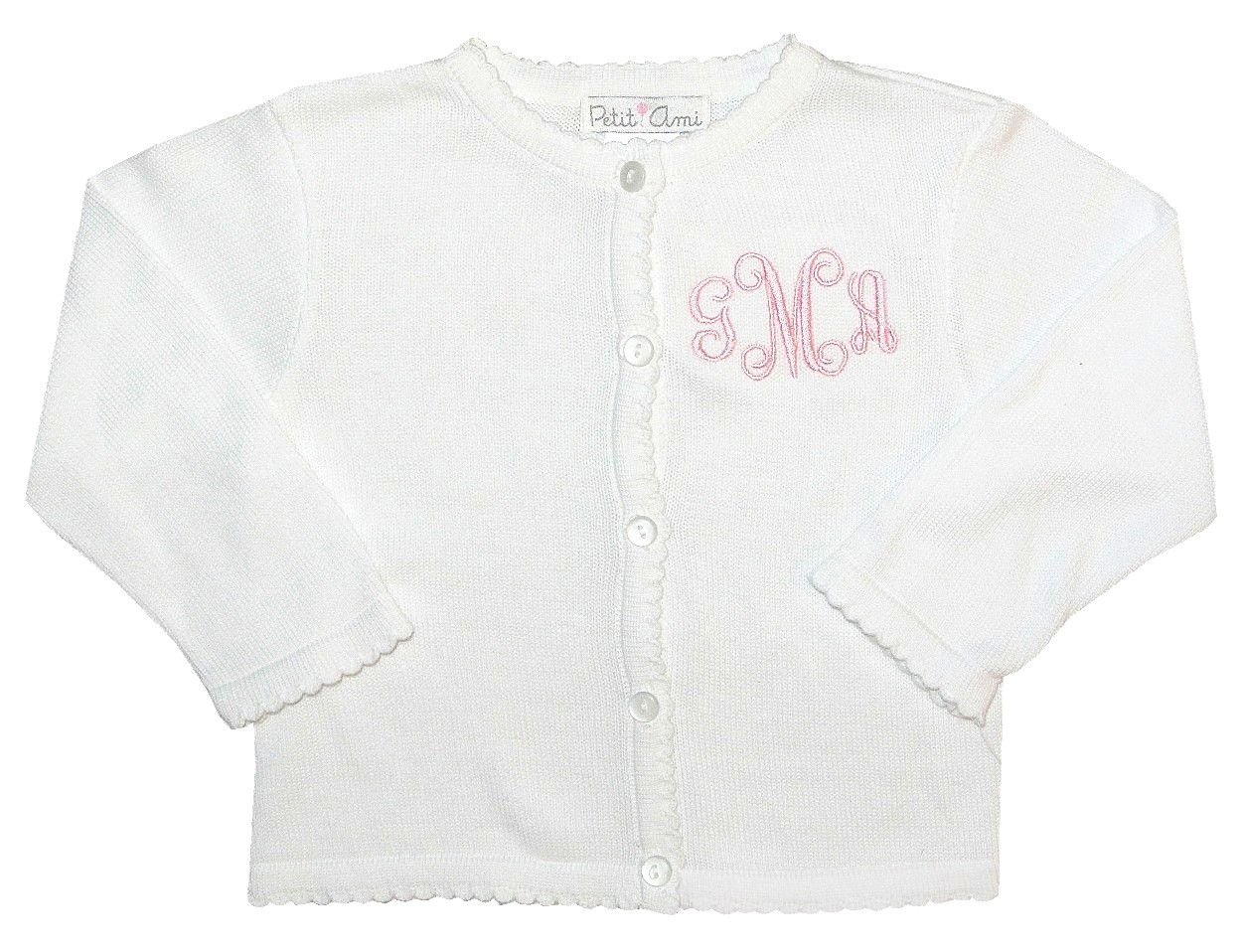 859ab0fb2 GIRLS PERSONALIZED SWEATER in White for Spring