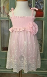 Haute Baby Lacey Rose Baby Girl Romper/Bubble with Lace Overlay