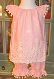 Haute Baby Peach Blossom Embroidered Bloomers~Pantaloons Set