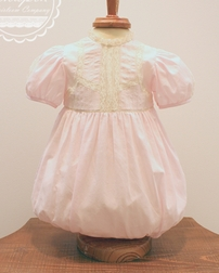 Heirloom Baby Girl Chapin Bubble in White with Ecru French Lace
