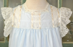 "Heirloom ""Jenna Too"" Dress, French Lace Flutter Sleeves, Inserts and Ruffle"