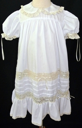 Heirloom Dress with French Lace Trimmed Peter Pan Collar