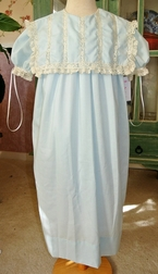 Heirloom Dress with Square Collar and Lace by Peppermint Pony