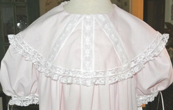Heirloom Flower Girl Portrait Round Cameo Lace Collar Dress