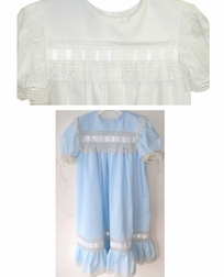 Heirloom square collar lace and ribbon dress for flower girls, First Communion, portraits, holidays special occasions