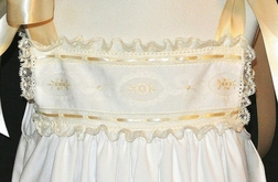 Heirloom Dress with Swiss Insert, French Lace and Satin Ribbon