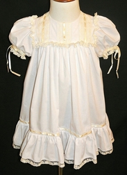 Heirloom Lace and Ribbon Dress for Girls Perfect for Flower Girls, Portraits, Special Occasions and Holidays in Various Color Schemes