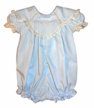 Heirloom Scalloped Collar Bubble or Dress with French Lace Trim