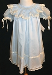 Girl's Heirloom Organdy Smocked Collar Dress