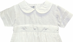 Highland Porch Boy's Convertible Christening Gown and Bubble with Matching Bonnet/Hat