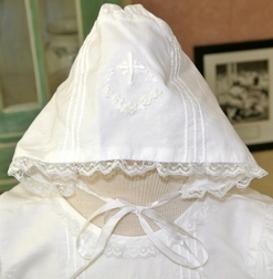 Highland Porch Christening Gown for Girls with Cross & Bonnet