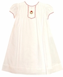 Baby Girl's Heirloom Christmas Embroidered Wreath Gown/Dress by Highland Porch