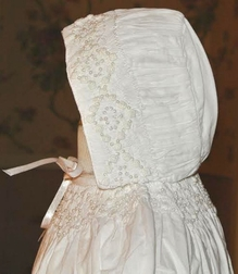 Highland Porch Smocked Christening Gown & Matching Smocked Bonnet