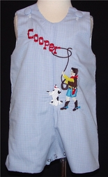 Custom Boy's Rodeo Monogrammed Cowboy Horse John John Or Outfit.