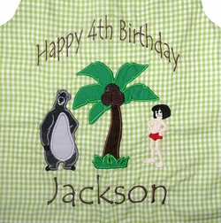 Jungle Book Boy's Outfit Mowgli and Baloo Birthday Outfit, John John or Longall