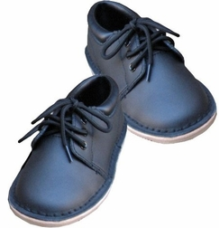 Boy's Oxford Shoes in Navy Leather by L'Amour