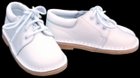 Boy's White Shoes, Leather Tie Up Oxford Dress Shoes