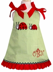 Custom Ladybug Dress, Outfit with Mommy Ladybug and Baby
