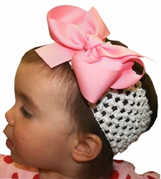 Baby Girl's Crochet Headband, Large