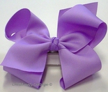 Girl's Hair Bow in Grosgrain Ribbon, Size Large
