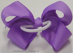 Girl's Hair Bow for Pony Tails, Grosgrain Ribbon, Large