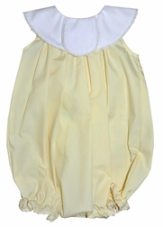 Le Za Me Girl's Round Collar Heirloom Hand Me Down Monogrammed Bubble