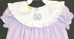 Le' Za Me Lavender Monogrammable Round Collar Dress with Short Sleeves or Sleeveless