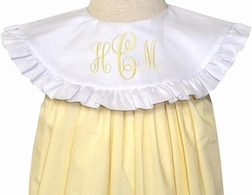 Le' Za Me Monogrammable Yellow Float Dress with Round Collar