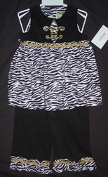 Le' Za Me Saints Football Pants Set for Girls.